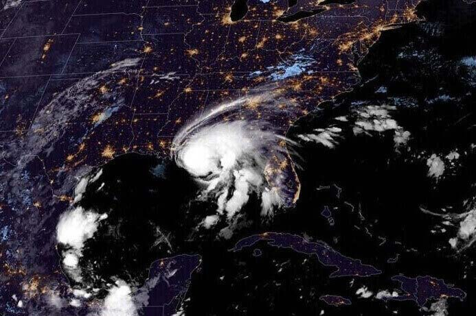 Hurricane Sally in the Gulf Coast.